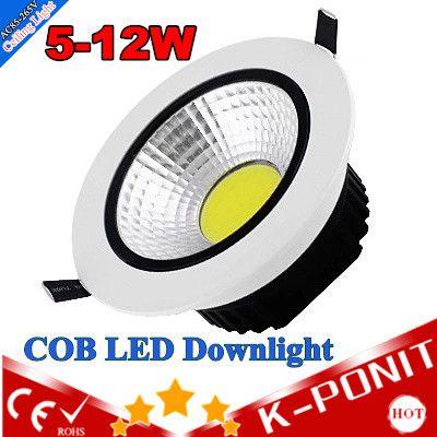 Дешевое Бесплатная доставка встраиваемые из светодиодов COB светильник 5 Вт 7 Вт 9 Вт 12 Вт из светодиодов COB пятно света из светодиодов COB потолочный светильник AC 110 В 220 В белого \ теплый белый, Купить Качество Светильники непосредственно из китайских фирмах-поставщиках:        Входное напряжение: 85 В-265 В          Коррелированной цветовой температуры (cct) (k): теплый белый (3000