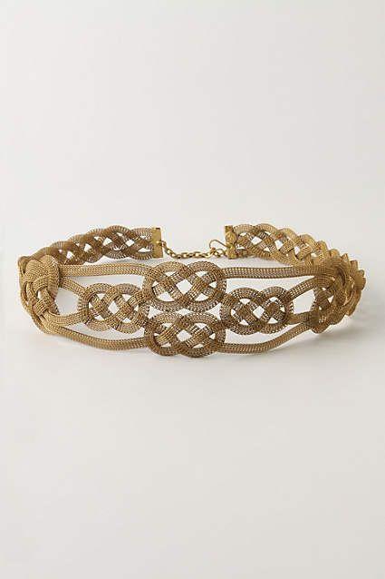 Quattrocento Belt - anthropologie.com, Twining sinews of brass mesh wrap early-Renaissance beauty around your waist.