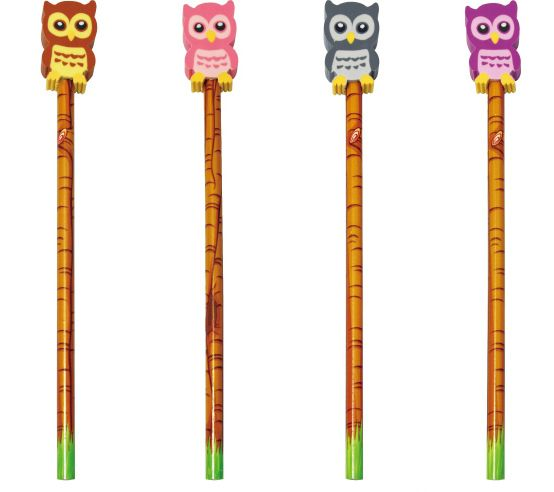 Owl pencil/eraser - The English Owl Company