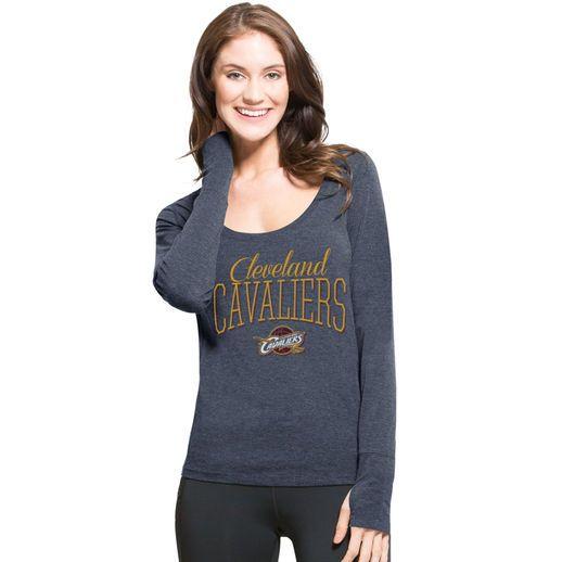 '47 Cleveland Cavaliers Women's Navy SHIFT Dash Long Sleeve Tri-Blend T-Shirt