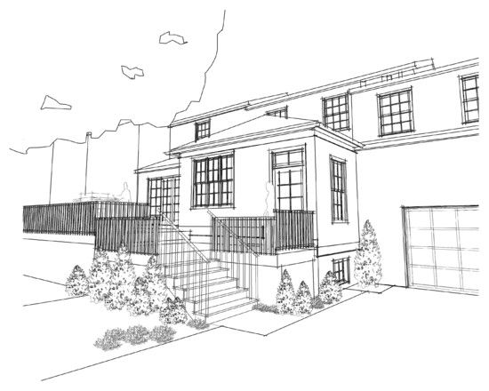 Home Design Sketch Determine Your Living: Exciting Sketch Plan Garage And  Kitchen Additions Modern Exterior