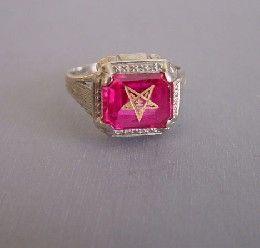 EASTERN STAR 14k white gold filigree 1910 Morning Glory Jewelry - Stylehive