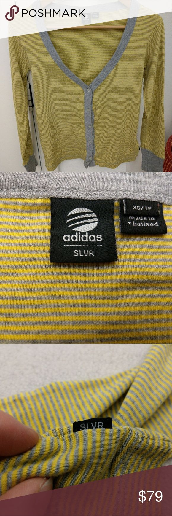 Rare Adidas Silver Cardigan Sweater Mint Condition NWOT Pristine ultra rare Adidas Silver Cardigan Sweater. On par with Adidas Y3or Stella McCartney. Pristine, never worn. No rips no stains! Have a wonderful day! adidas Sweaters Cardigans