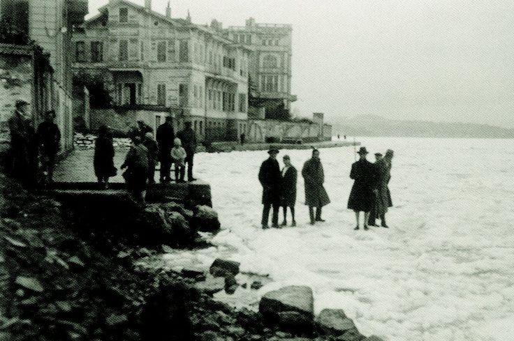 Bebek Sahili 1929 kışı İstanbul