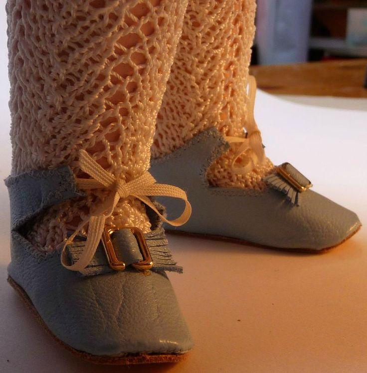 chaussures de poupées : un patron pour pied de 5,5 cm