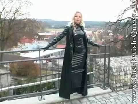 Heike in pvc and boots - YouTube
