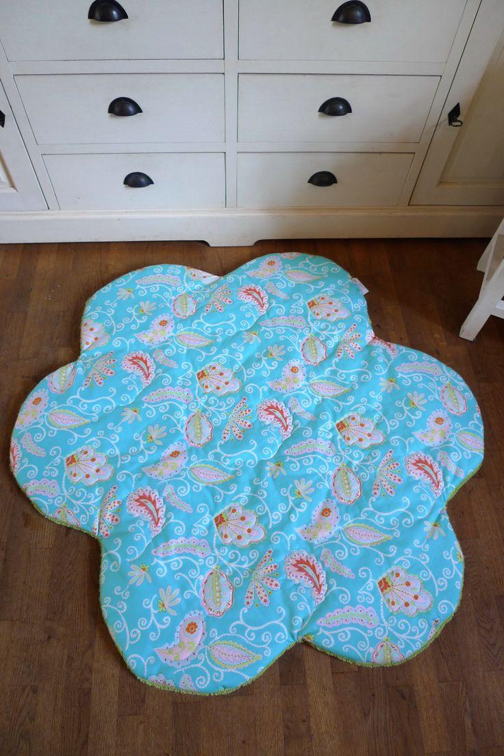 Teppich mit der Maschine gequiltet.