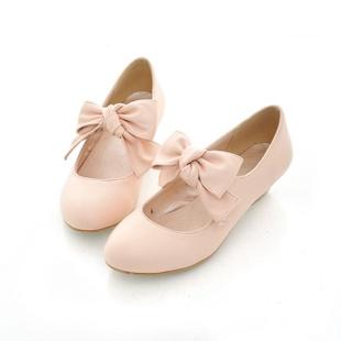 Los modelos originales de explosión! Arco dulce dama encantadora bajo con los zapatos de princesa individuales, pequeños zapatos de color rosa / negro / blanco