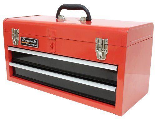 Homak RD01022001 2-Drawer Tool Box/Chest, Red
