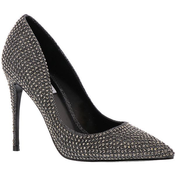 Steve Madden Daisie-R Women's Silver Pump (325 PEN) ❤ liked on Polyvore featuring shoes, pumps, silver, silver high heel shoes, slip on pumps, pointed toe high heel pumps, pointy toe shoes and high heeled footwear