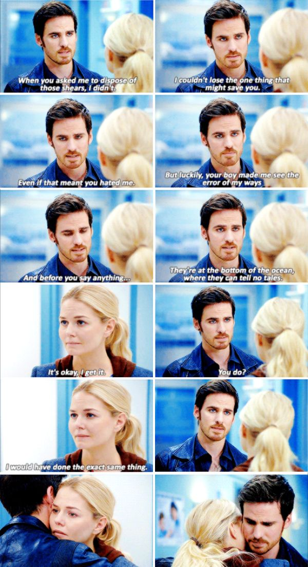 "Killian Jones and Emma Swan - 6 * 6 ""Dark Waters"" #CaptainSwan"