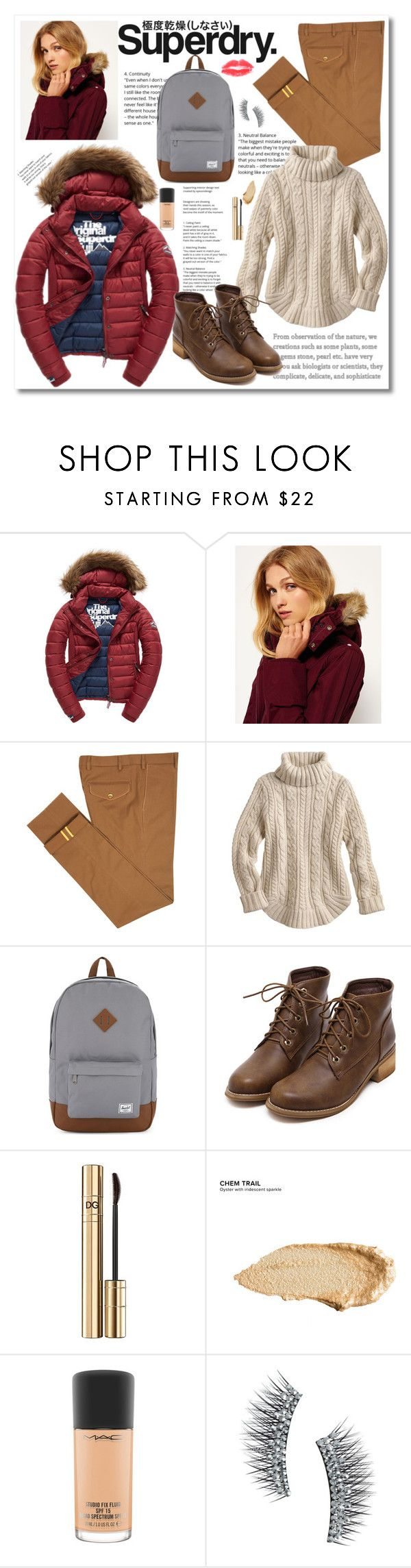 """The Cover Up – Jackets by Superdry: Contest Entry"" by cindy88 ❤ liked on Polyvore featuring Superdry, Fuji, Diverso, Herschel Supply Co., Dolce&Gabbana, Urban Decay, MAC Cosmetics and Kre-at Beauty"