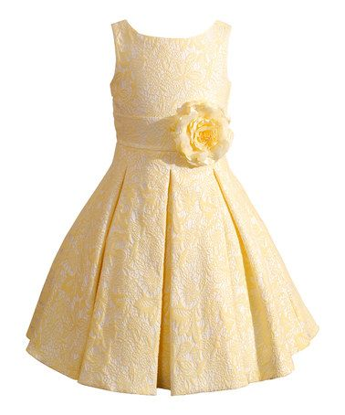 Loving this Yellow Jocelyn Dress - Girls on #zulily! #zulilyfinds