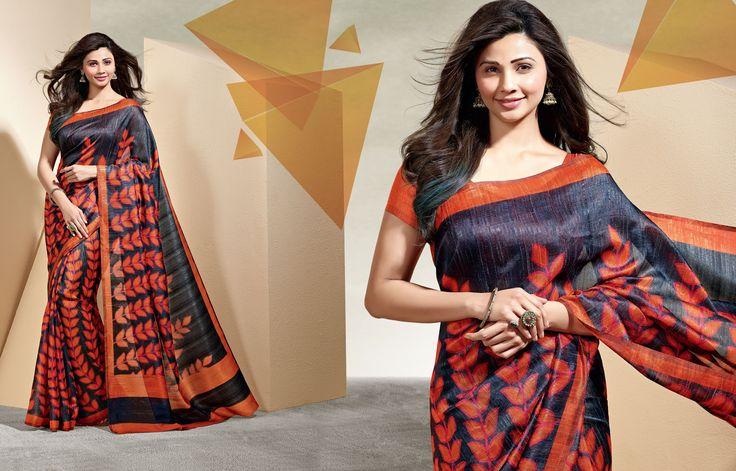 Daisy Shah Printed Linen, Printed Jacquard and Printed Art Silk Saree (CATALOG - 238)