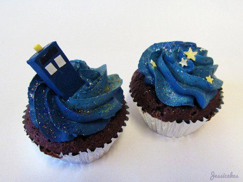 These #DoctorWho cupcakes look like heaven!