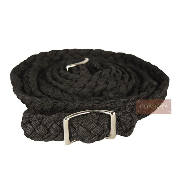 Rédea para Cavalo em Nylon Preta    Rédea importada para cavalo feita em nylon trançado na cor preta.