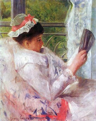 Reading Mrs. (Lydia Cassat) by Cassat. Order from DEKORAMI as a poster, canvas print, mural. Zamów jako obraz na płótnie, plakat lub fototapetę na DEKORAMI.pl
