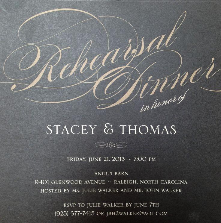 creative wording for rehearsal dinner invitations%0A Rehearsal Dinner Invitation  Wedding Paper Divas