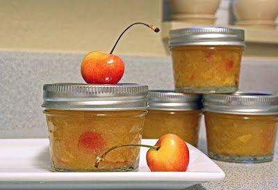 Sweet Little Smoothie: Sweet Cherry-Peach Freezer Jam