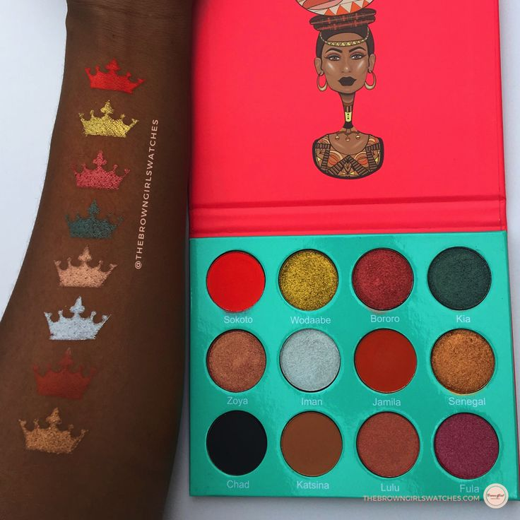 Juvia's Place Saharan Palette Review and Swatches on DARK Skin