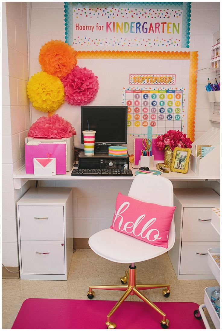 Confetti Crush Collection by Schoolgirl Style www.schoolgirlstyle.com rainbow confetti classroom decor dog cat pets animals primary colors bright colors classroom organization teacher desk teacher work area