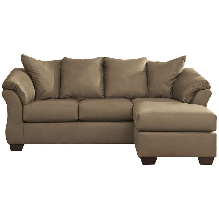 Fingerhut - Ashley Furniture Darcy Sofa with Chaise - Mocha