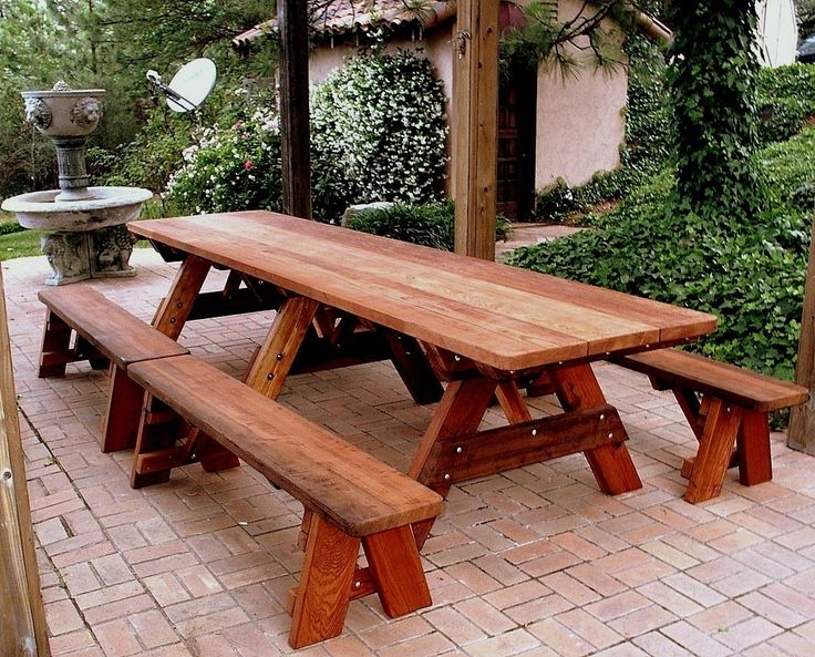 Redwood Picnic Table Bench Plans