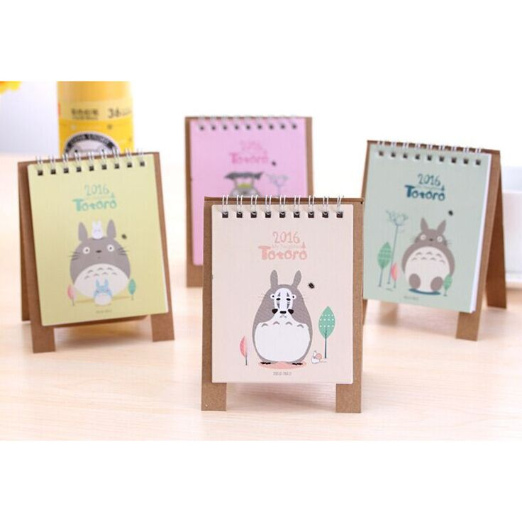 Kawaii My Neighbor Totoro Paper 2016 Year Calendar Organizer Schedule Calendar 13*9cm Standing Calendar Planner Book Calendar
