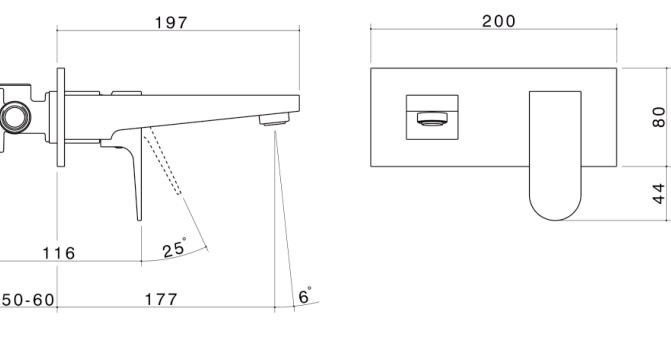 ABL Tile Centre - Arc Wall Basin Mixer with Plate, $339.00 (http://www.abltilecentre.com.au/arc-wall-basin-mixer-with-plate/)