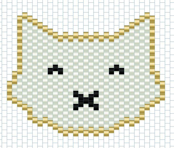 Grille tissage - Tete de chat