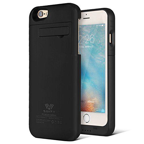 Funda Batería iphone 6 / 6s , SAVFY® Case carcasa Con Batería Cargador-batería Externa Recargable 3200mAh Para iPhone 6 / 6s 4.7 (Negro) - http://cargadorespara.com/comprar/solares/funda-bateria-iphone-6-6s-savfy-case-carcasa-con-bateria-cargador-bateria-externa-recargable-3200mah-para-iphone-6-6s-4-7-negro/