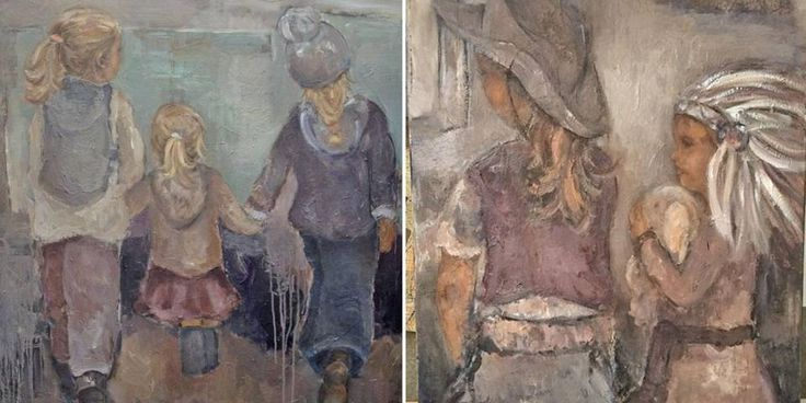 maleri av barnefoto