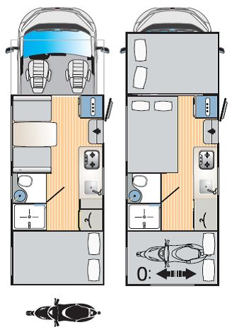 RIMOR SEAL 5,  6 plazas, tres camas dobles con gran garaje