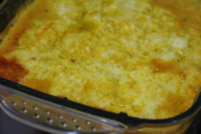 Pastel de choclo, plato típico chileno recién salido del horno. Ideas para un almuerzo a la chilena.