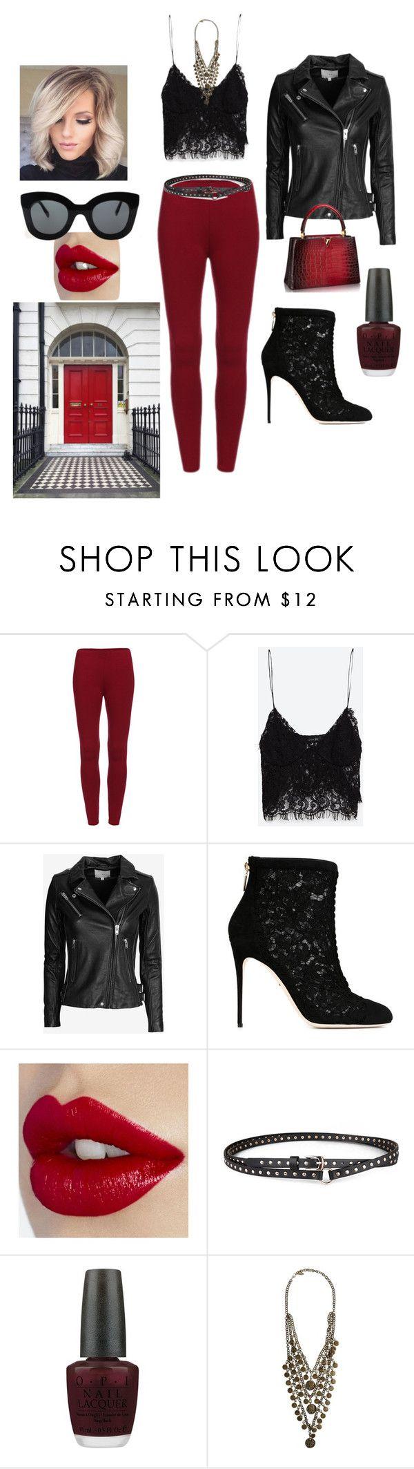 """thor"" by mrs-hakes ❤ liked on Polyvore featuring Zara, IRO, Dolce&Gabbana, Chicnova Fashion, OPI, Ettika, CÉLINE, women's clothing, women and female"