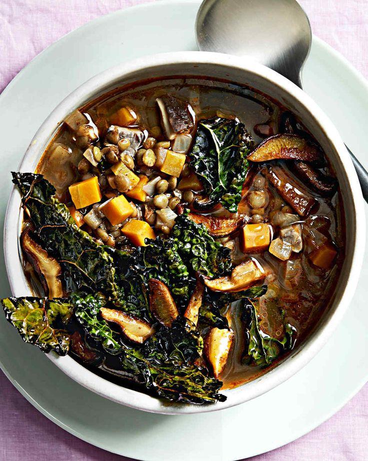 lentil soup with crispy kale (new recipe)