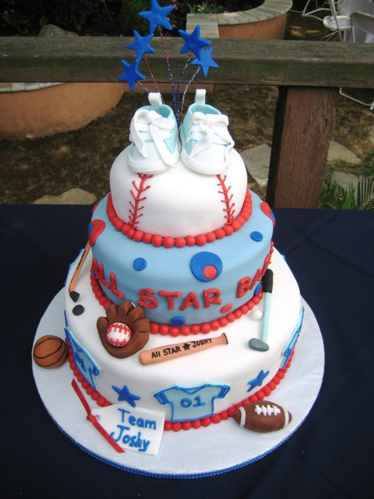 all star baby shower cake topped with baby blue fondant chucks baby