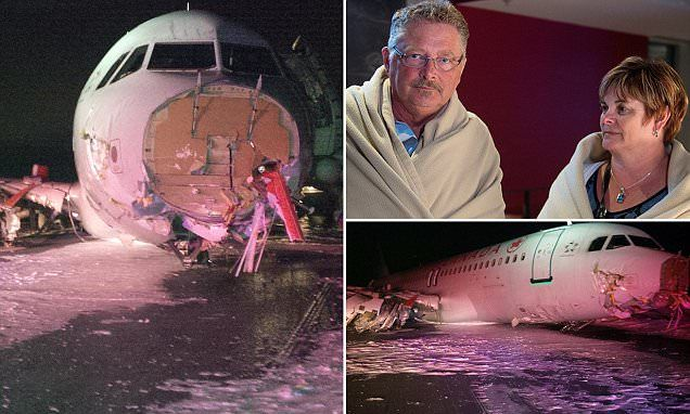 Air Canada plane makes crash landing at Halifax Airport