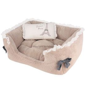 Cute Pet Beds 'Lovely Jubbly House' Designer Louis Dog (Pink or Beige)