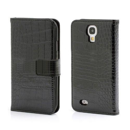 Genuine zwart krokodillenleer hoesje Galaxy S4