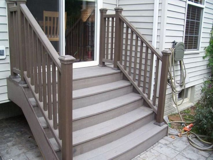 Composite Deck Stairs Cost 2019 Deck Stairs Trex Stairs