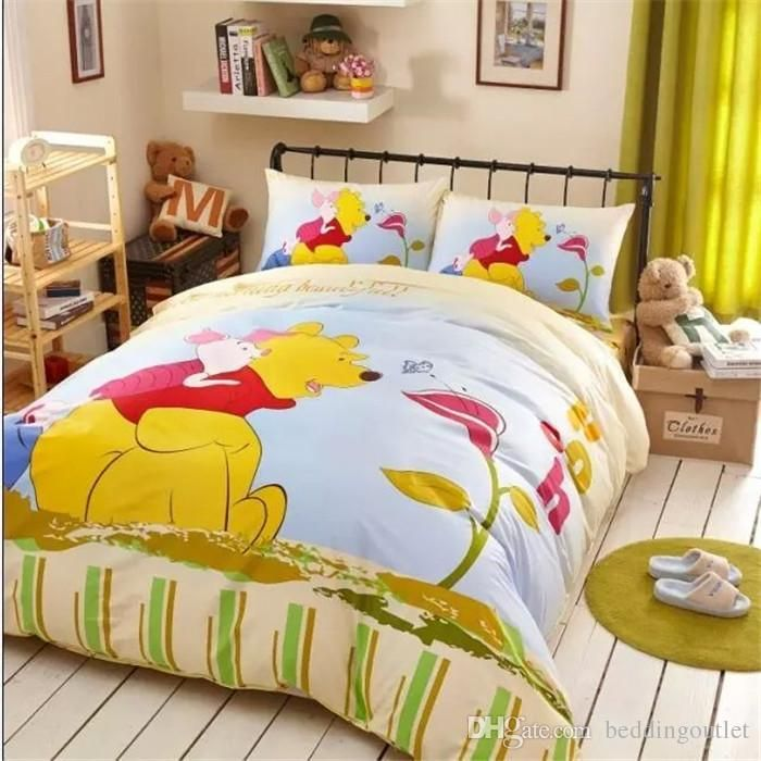 Yellow Winnie Pooh Clic Bedding In The Gr Bed A Bag Sets Baby Duvet Boys Set From Beddingoutlet