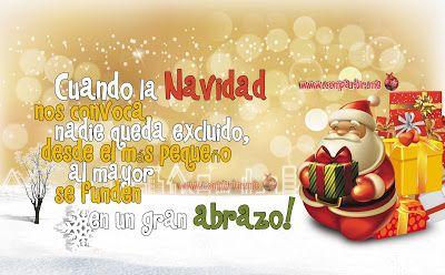 Tarjeta virtual de navidad con la imagen de una Santa Claus con muchos regalos | Compartir.me
