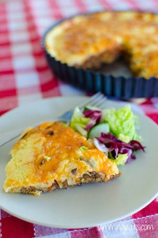 Cheeseburger or turkey burger Quiche | Slimming Eats - Slimming World Recipes