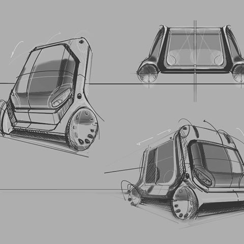 Concept sketches  _______________________________  #Wacom #digital #illustration #conceptsketch #conceptdesign #publictransport #electric #automotivedesign #drawing #rendering #sketch #idsketching #industrialdesign #productdesign