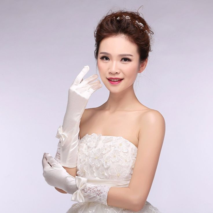 >> Click to Buy << Wholesale Free Shipping Finger With Bow Lace Gloves Lace Bridal Gloves Wedding Gloves 2017 Wedding Accessories  #Affiliate