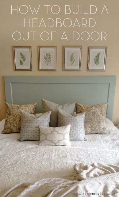200 best diy bedroom decor images on pinterest for How to make a headboard out of a door
