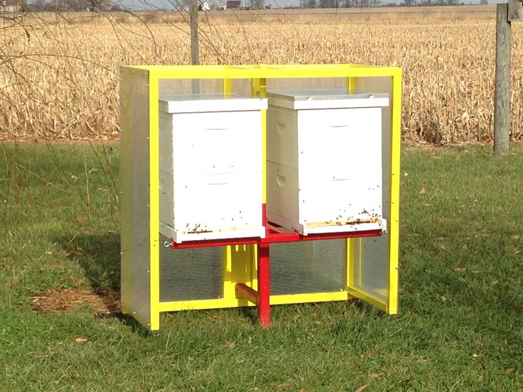 Hive Stand Designs : Bee hive stand with wind break bees pinterest