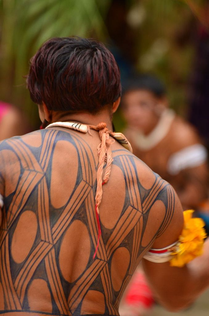 pintura corporal índio