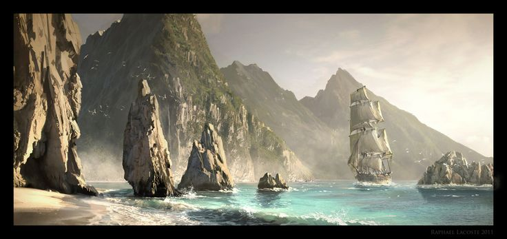 Assassin\'s Creed Black Flag - The Rocks by Raphael Lacoste | Illustration | 2D | CGSociety